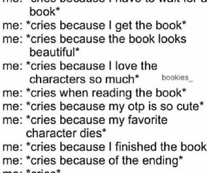 books, cry, and fandoms image