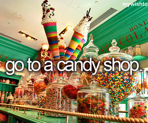 candy, candy shop, and sweet image