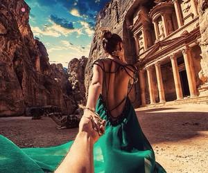travel, dress, and jordan image