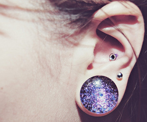 piercing, Plugs, and ear image