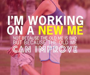 fitness, sports, and quote image
