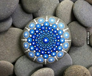 stone, blue, and rock image