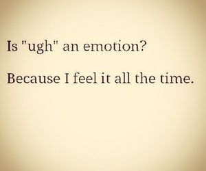 ugh and emotions image