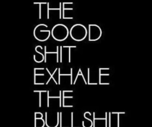bullshit, quote, and inhale image