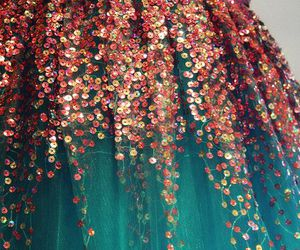 dress, sequins, and Prom image