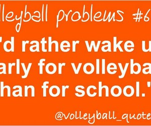 volleyball and hate school image