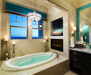 bathroom, interior, and jacuzzi image