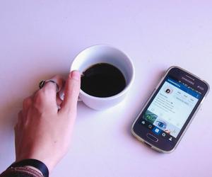 coffee, girl, and hand image