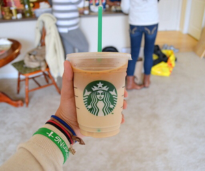 starbucks, tumblr, and drink image
