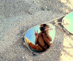 beach, picture, and sand image