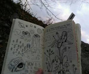 art, grunge, and book image