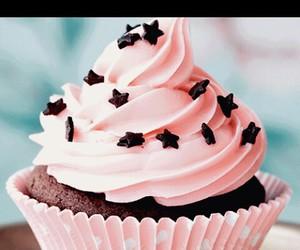 pink star sweet cupcake image