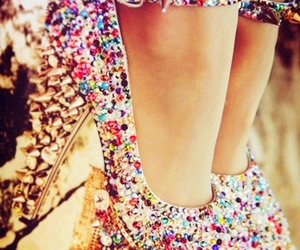 colorful, gems, and high heels image