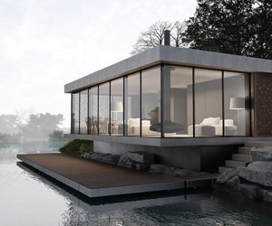 beautiful, house, and glass image
