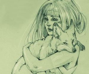 animal, art, and hug image