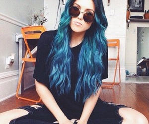 hair, blue, and bluehair image