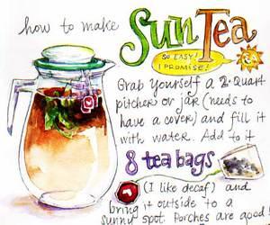 tea and sun tea image
