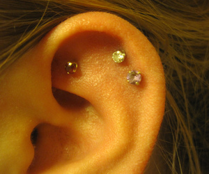 ear, photography, and piercing image