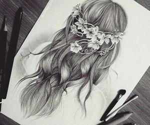 hair, art, and drawing image
