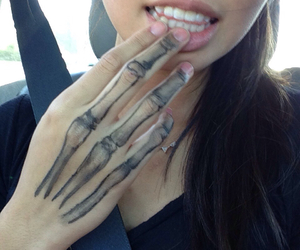 tattoo, girl, and hand image