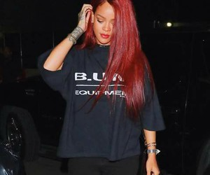 rihanna, red hair, and style image