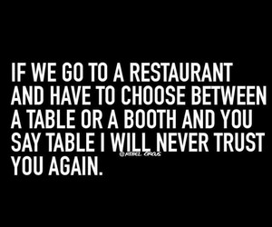 booth, funny, and restaurant image