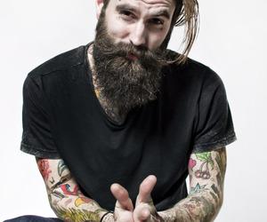 tattoo, ricki hall, and beard image
