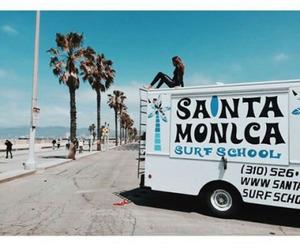 beach, surf, and santa monica image