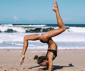 fitness, beach, and summer image