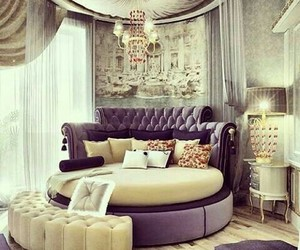 bedroom, luxury, and bed image