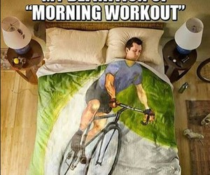 fitness, funny, and morning image