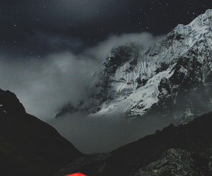 mountains, pretty, and night image