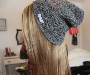 hair, tumblr, and beanie image