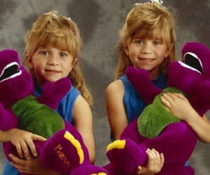 barney, olsen, and mary kate and ashley image