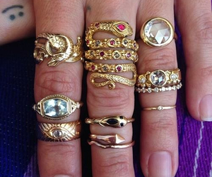 rings, jewelry, and vintage image