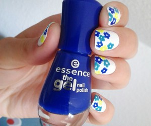 blue, essence, and flowers image