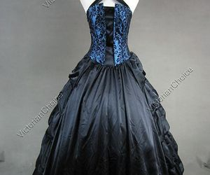 black, gothic, and blue image