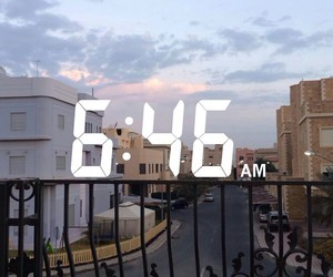 city, morning, and sky image