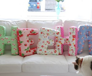 crafts, Letter, and pillows image