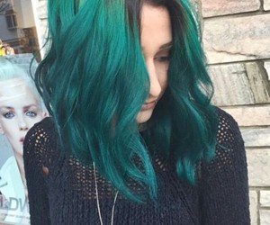 blue, dye, and girl image