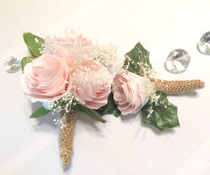 prom corsage, prom boutonniere, and fake flower corsages image