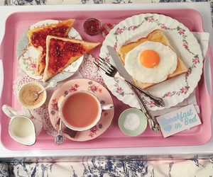 breakfast, floral, and tea image