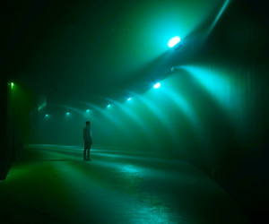 green and light image