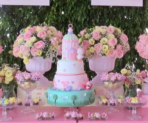 beautiful, birthday party, and delicate image