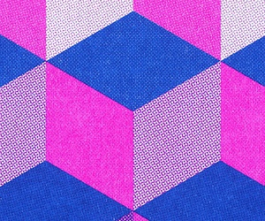 blue, cube, and pattern image