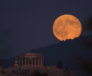 Athens and moon image