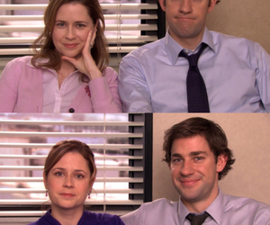 jim halpert, the office, and pam halpert image