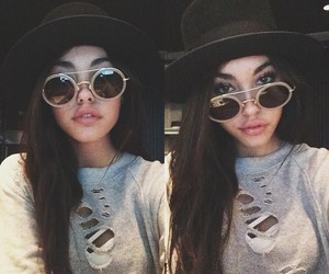 madison beer, hat, and sunglasses image
