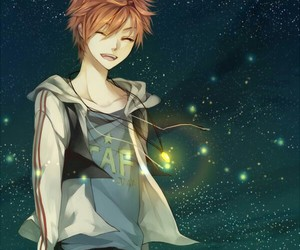 anime, boy, and stars image