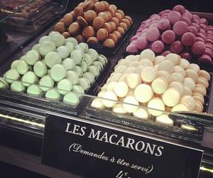 food, macarons, and macarons image